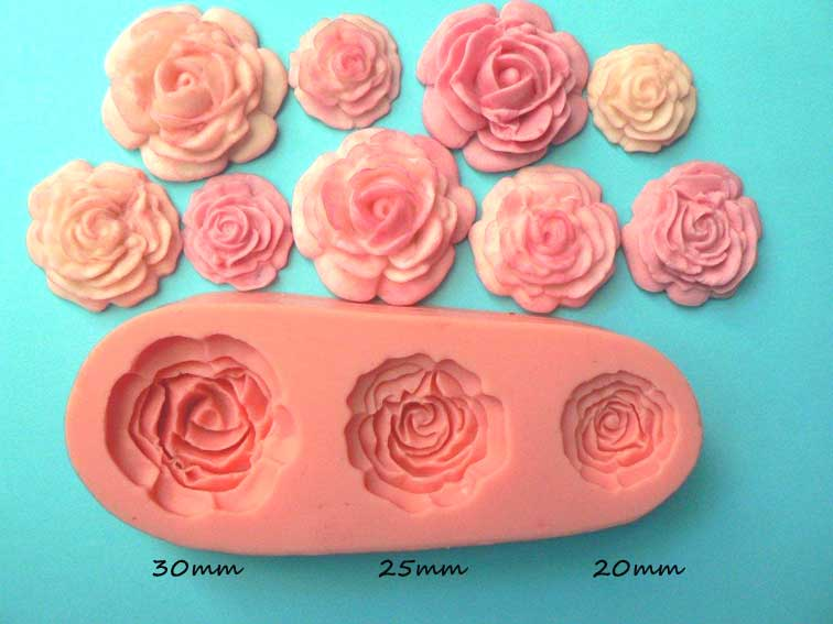 Roses Mould 3 sizes
