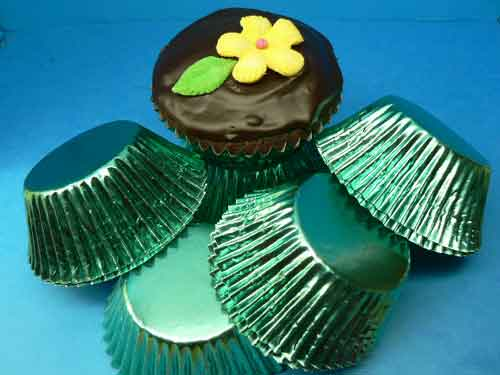 Foil Baking Cups Jade Green Large (Pkt 100)