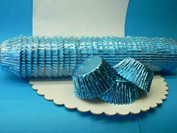 Foil Baking Cups Blue Large (Pkt 500)