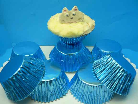 Foil Baking Cups Blue Large (Pkt 100)