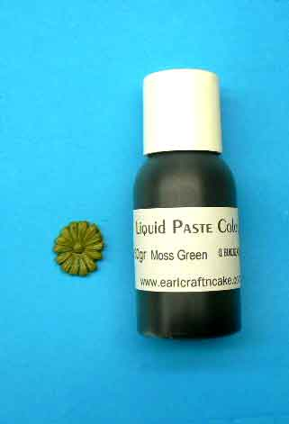 Moss Green Paste Colour - 28 gr squeeze bottle