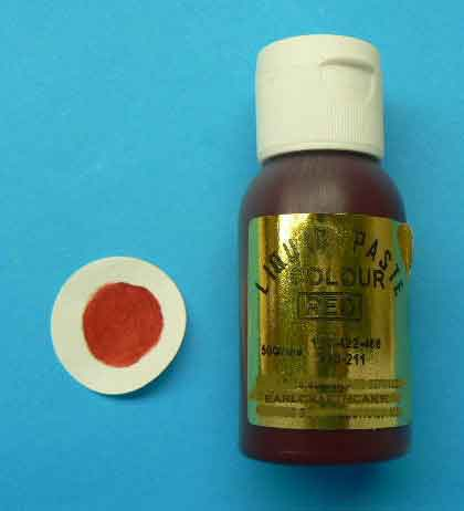 Red Paste Colour - 28 gr squeeze bottle