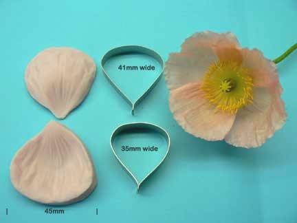 Poppy Cutter and Veiner set (Small)