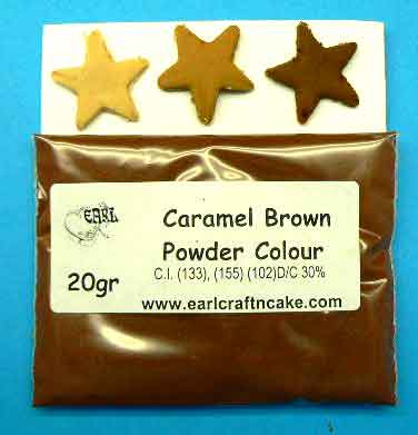 Caramel Brown Powder Colour 20GR