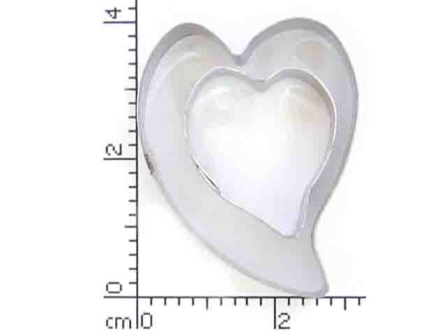 Heart Cutters - Set of 2 ( Wide abstract shape)