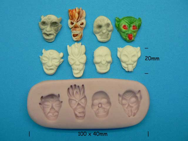Scary Faces Mould