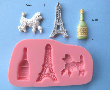Parisian Mould - Eiffel Tower-Poodle-Champagne