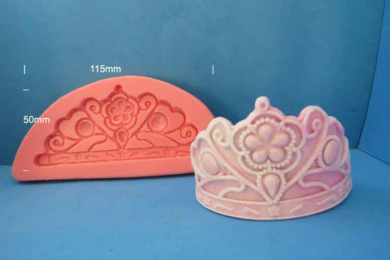 Tiara mould 115mm x 50mm