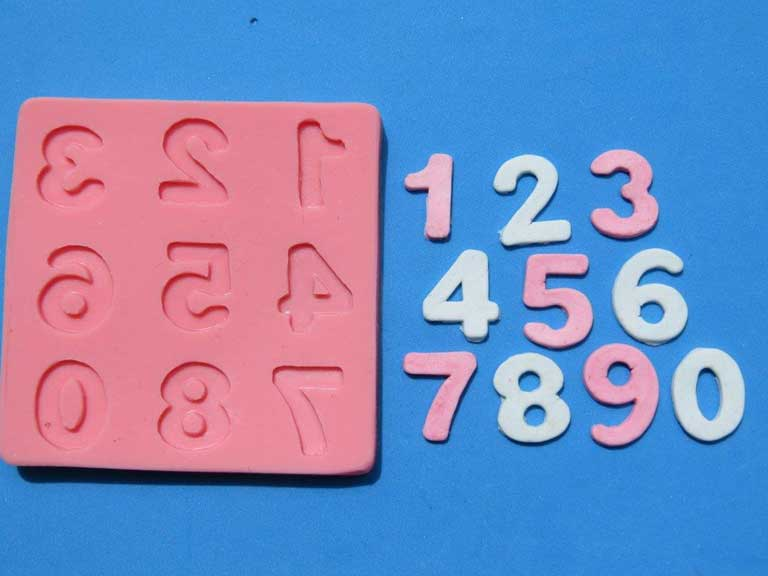 Numbers Mould 17mm x 14mm