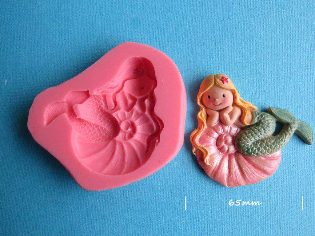 Mermaid Mould ( Starfish in hair) 65mm wide