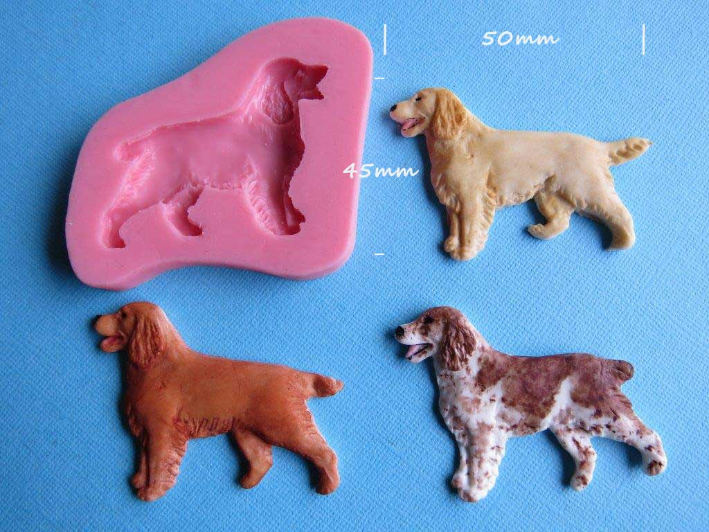 Dog - Spaniel mould 50mm wide