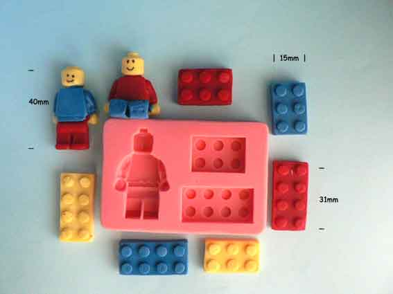 Toy Blocks and Man