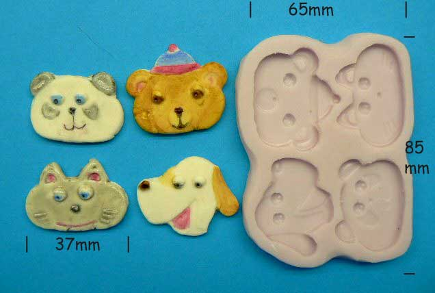 Playful Animal Faces Mould