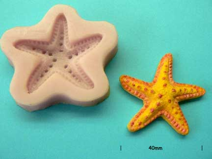 Starfish Mould 40mm