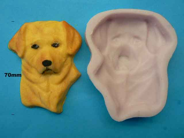 Labrador Dog Head Mould