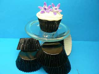 BLACK FOIL Baking Cups Mini (Pkt 100)