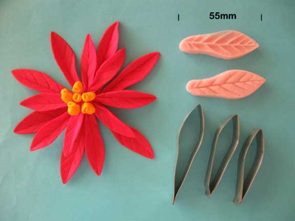 Poinsettia Cutter and Veiner set