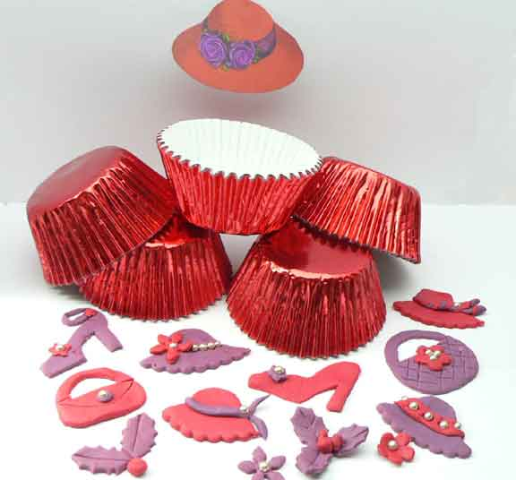 500 RED Medium Size Foil Patty Cups