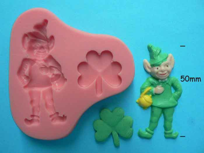 Leprechaun and Shamrock mould