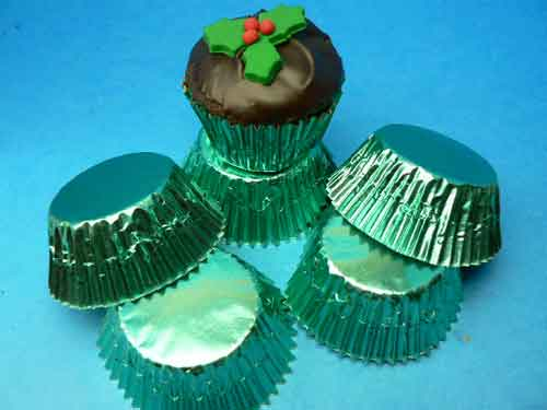 Foil Baking Cups Jade Green Mini (Pkt 100)