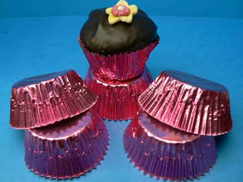 Pink Foil Baking Cups Mini (Pkt 100)