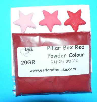 Pillarbox Red Powder Colour 20GR