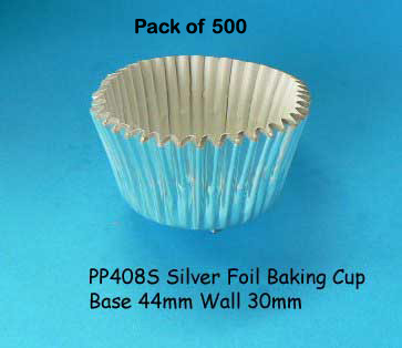 500 White Foil Patty Cups Medium Size