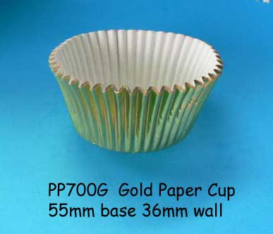 Baking Cups (Patty Pans) Gold Large Pkt 100 cups