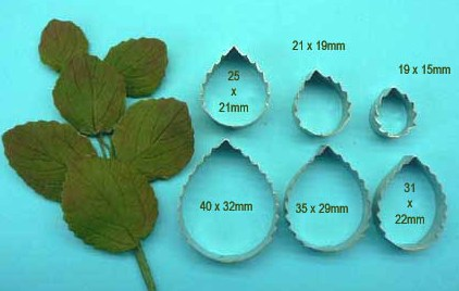 Rose Leaf & Petal Combination Cutters
