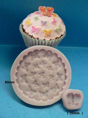 Butterfly Embossing cupcake top mould kit