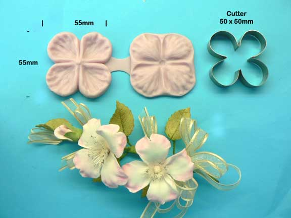 Dogwood Rose Veiner & Cutter Set