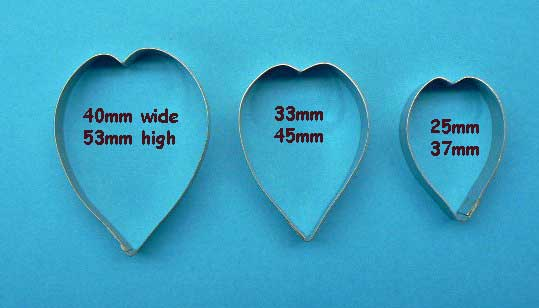 Tulip Cutter Set - Set of 3 heart shape