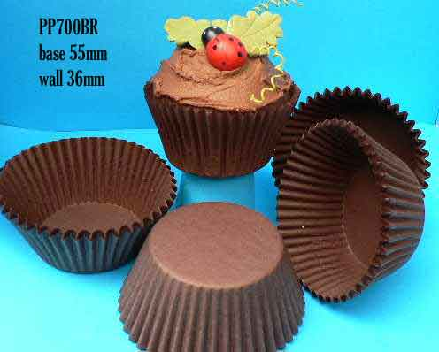 Brown Paper Baking Cups (patty pans) large (pkt 500)